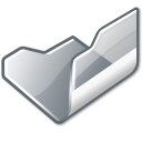 folder grey open icon