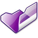 folder violet open icon