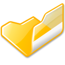 Folder yellow open icon