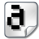 font bitmap icon