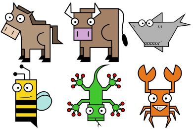 Squared Animal Icons