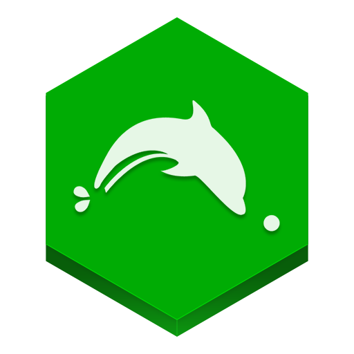 Dolphin browser icon hex iconset martz90 Browser icon