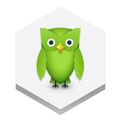 Duolingo Icon | Hex Iconset | Martz90