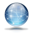Network globe icon