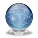 Network globe offline icon
