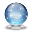 Network globe online icon
