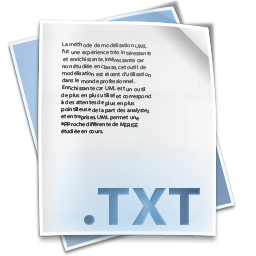 Filetype txt icon