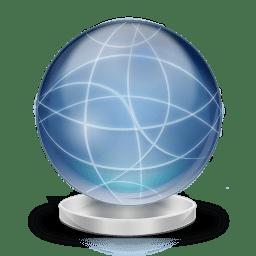 Network globe offline icon