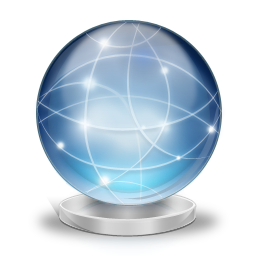 Network globe online icon