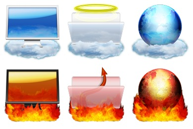 Heaven And Hell Icons