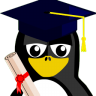 http://icons.iconarchive.com/icons/mathijssen/tuxlets/96/Graduation-Tux-icon.png