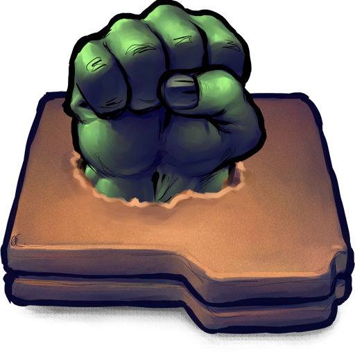 Comics Hulk Fist Folder icon
