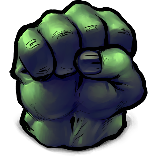 Comics Hulk Fist Icon | UltraBuuf Iconset | Mattahan