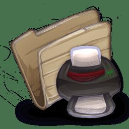 Folder printers icon