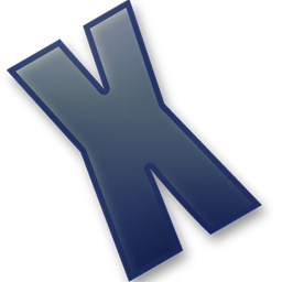Letter X icon