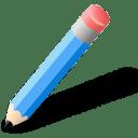 Lapiz azul icon