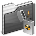 Burnable-Folder-black icon