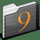 Classic Folder black icon