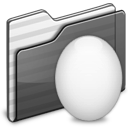 Egg Folder black icon