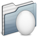 Egg Folder graphite icon