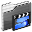 Movies Folder black icon