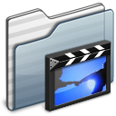 Movies-Folder-graphite icon
