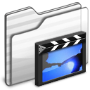 Movies Folder white icon