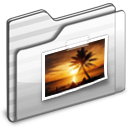 Pictures Folder white icon