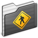 Public Folder black icon