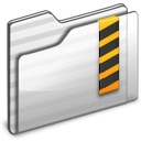 Security Folder white icon