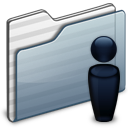 Users-Folder-graphite icon