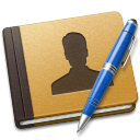 Address Book blue icon