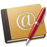 Address-Book-Oldschool-red icon