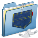 Blue Pocket iPod shuffle icon