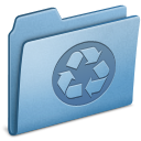 Blue-Recycling icon