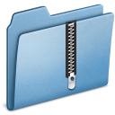 Blue Zip icon