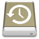 Lightbrown External Drive Backup icon