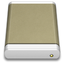 Lightbrown External Drive icon