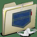 Lightbrown Pocket iPod shuffle icon