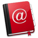AddressBook Red icon