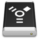 Drive Black FireWire icon