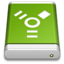 Drive Green FireWire icon
