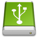 Drive Green USB icon