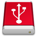 Drive PRODUCT Red USB icon