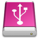 Drive Pink USB icon