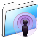 Podcast Folder smooth icon