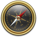 Compass-Gold-Black icon