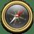 Compass Gold Black icon