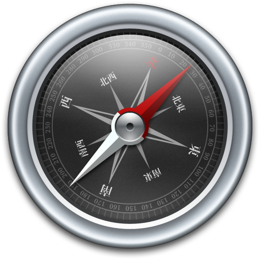 Compass Black icon