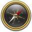 Compass Gold Black icon